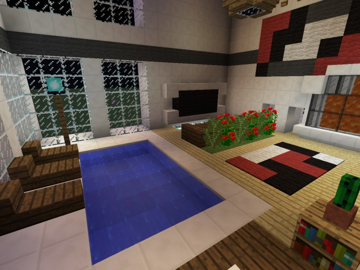 modern art deco penthouse minecraft project. Black Bedroom Furniture Sets. Home Design Ideas