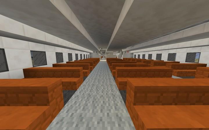 2-deck plane interior