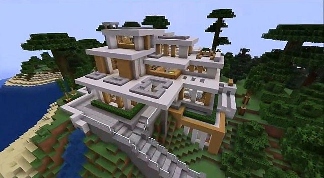 Modern house 7 minecraft project for Cool modern houses
