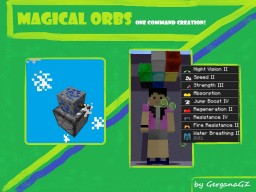 [One Command Creation] Magical Orbs - by GerganaGZ! - Flying helpful orbs above your head :D Minecraft Map & Project