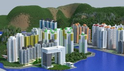 Victoria - a city based on Hong Kong Minecraft