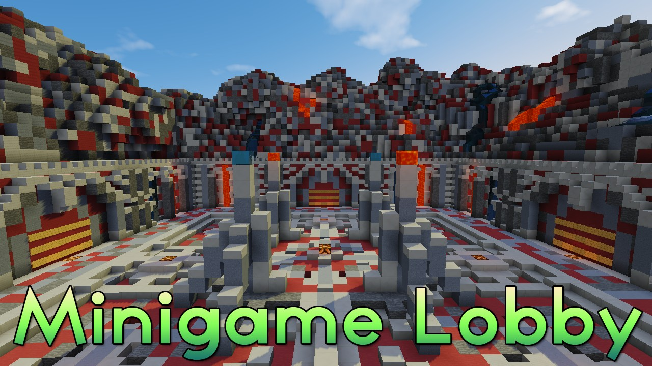 Minigame Lobby SkywarsHungergamesSpleef Any Mode Minecraft Project - Minecraft spiele lobby