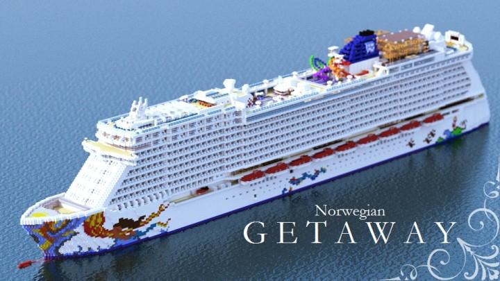 Norwegian Getaway Cruise Ship Replica Minecraft Project - Getaway cruise ship