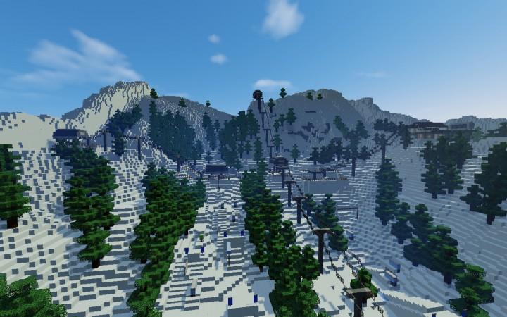 WORKING SKI RESORT [NOW MINECRAFT 1.9+] Minecraft Project