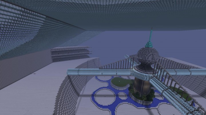 Mega Build Spaceship City Minecraft Project