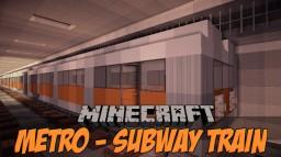 Minecraft Metro/ Subway Train Minecraft Map & Project