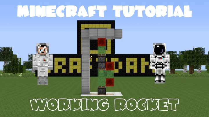 how to build a working rocket in minecraft