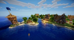 Medieval Island village v.2! The end! Minecraft Map & Project