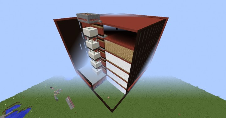 how to make a elevator in minecraft with command blocks