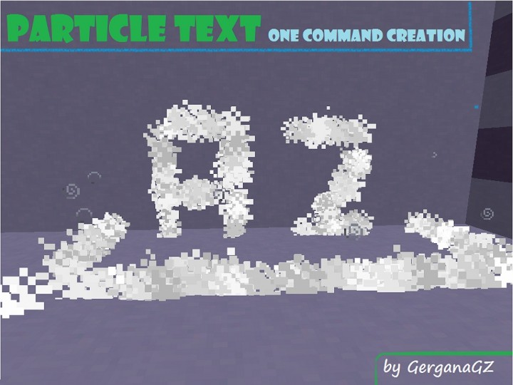 One Command Creation Particle Text By Gerganagz Letters And