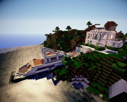 Secluded Mountain Villa with Yacht on Lake Minecraft Map & Project