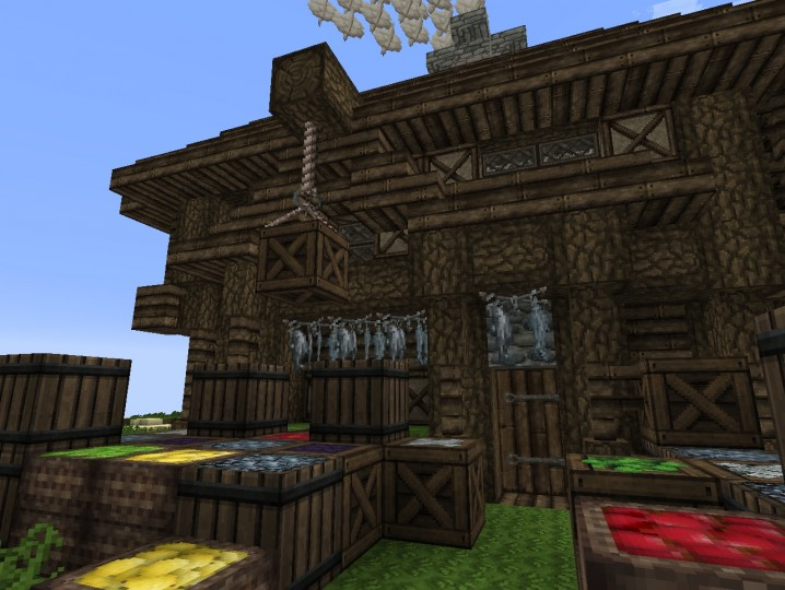Medieval Markt House Fisherman House Minecraft Map