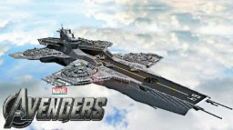 Avengers - S.H.I.E.L.D - helicarrier Minecraft Map & Project