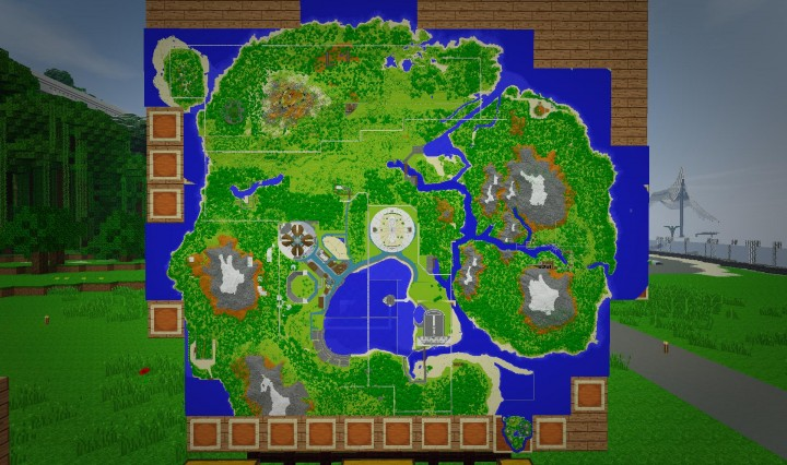 Jurassic World Isla Nublar v1 Minecraft Dinosaurs Minecraft – Jurassic World Map Minecraft 1 7 10