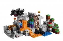 """LEGO Minecraft """"Cave"""" hanger contest submission"""
