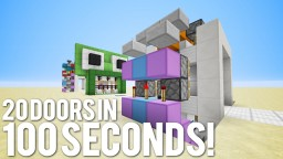 20 MORE Doors in 100 Seconds! Minecraft Map & Project