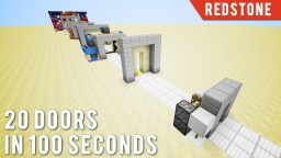 20 More Doors In 100 Seconds Minecraft Map & Project