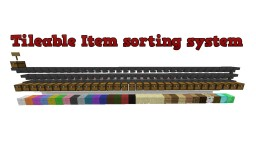 Tileable Item sorting system Minecraft Map & Project