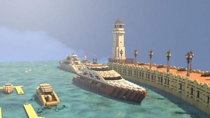 Port Salver marina - Render by Headshotwar