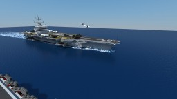 Minecraft AWESOME Aircraft Carrier (USS Enterprise CVN65) Minecraft Map & Project