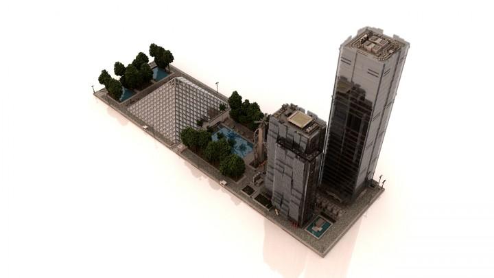 Westpoint spawn plaza, glass test  - Render by Headshotwar