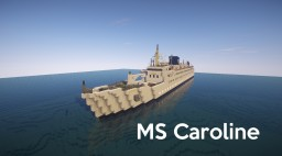 MS Caroline (vintage cruise ship) + Schematic Minecraft Map & Project