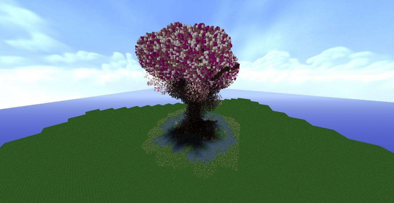 Cerisier géant / Giant Cherry Tree Minecraft Project