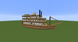 Mississippi Steam Ship Minecraft Map & Project