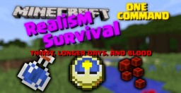 Realism Survival in One Command! [Thirst, Long Days, Blood, and More!] Minecraft Map & Project