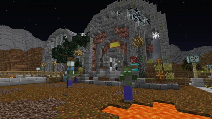 Station - 1.8 Zombies Map Minecraft Project
