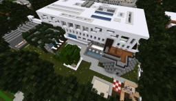 Modern House: Flow Stream Water! Minecraft Map & Project
