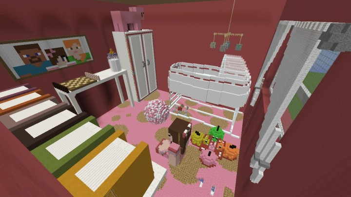 Baby Girl 39 S Room Minecraft Project