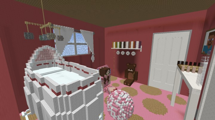 Baby Girl\'s Room Minecraft Project