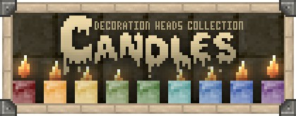 Candles Collection Decoration Player Heads Schematic Minecraft