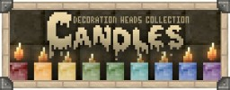 """Candles Collection"" Decoration Player Heads + Schematic Minecraft Map & Project"