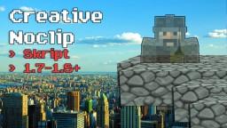 CreativeNoclip | 1.7 - 1.8+ | Skript Minecraft Mod