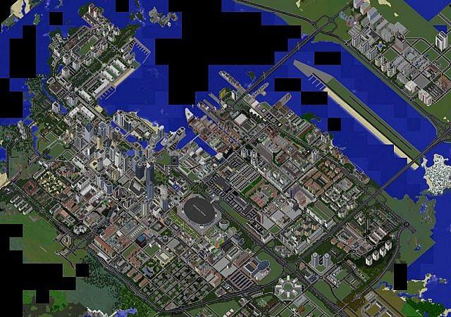карта для майнкрафт 1.7.2 большлй город #4