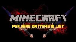 [1.9] Minecraft ID List (All versions)