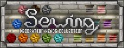 """Sewing Collection"" Decoration Player Heads + Schematic Minecraft Project"