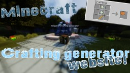 Custom crafting recipes GENERATOR in Vanilla Minecraft - One command Block