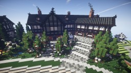 Tudor Mansion with 14 bed/19 bath Minecraft Map & Project