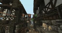 Medieval streetscape Minecraft