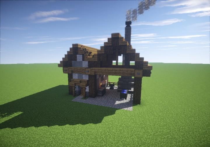 Small Medieval Blacksmith Minecraft Map