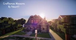 Cliffside Craftsman Mansion - WoK Minecraft Map & Project