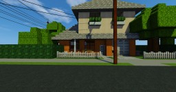 Small Modern Family Home (Furbished) Minecraft Map & Project