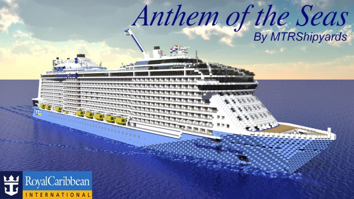 anthem of the seas 11 scale cruise ship minecraft project