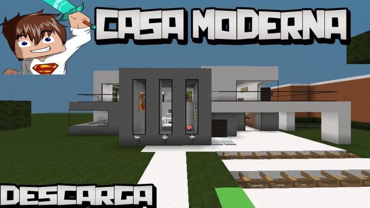 Minecraft la casa moderna minecraft project for Casa moderna minecraft easy