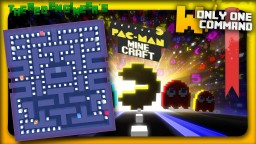 Pacman with only 3 commands   W/ Custom AI Minecraft Map & Project