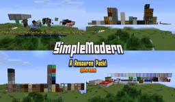 SimpleModern 1.8.1-1.8.8 v.07 (New link) Soon compatible with 1.12.1 Minecraft Texture Pack