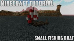 Minecraft Tutorial - Small Fishing Boat Minecraft Map & Project